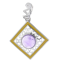 Amethyst Anh�nger in 925 Sterling Silber