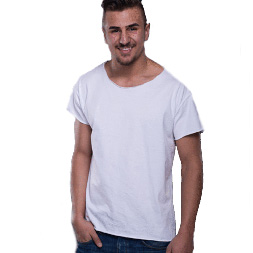 BySezen lockeres Shirt Basic white