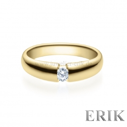 Spannring V in Gold mit Brillanten