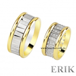Partnerringe in 10 mm in Gold F110201