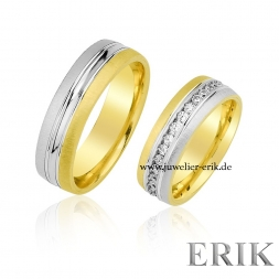 Partnerringe in Bicolor 585/14 Karat Gold