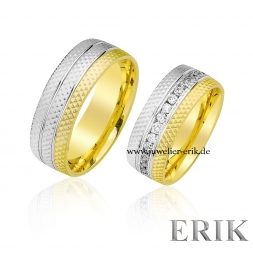 Bicolor Trauringe in 585/ 14 Karat Gold