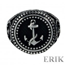 Hoist Anchor Ankerring 925 Sterling Silber