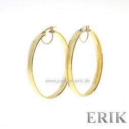 Ovale Creolen in 585/ 14 Karat Gold