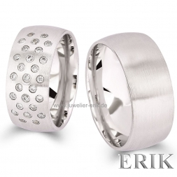 Avantgarde Partnerringe 925 Sterling Silber