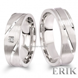Romantik Partnerringe 925 Sterling Silber