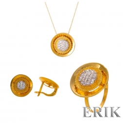 Gold Set Zirkonia
